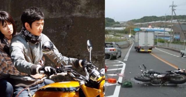 カップルがバイクで死亡事故。感動するとネットで話題になったが・・・炎上!!