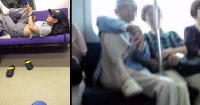 【高齢者VS若者】電車内騒然!!ふてぶてしい高齢者を見事論破!!!