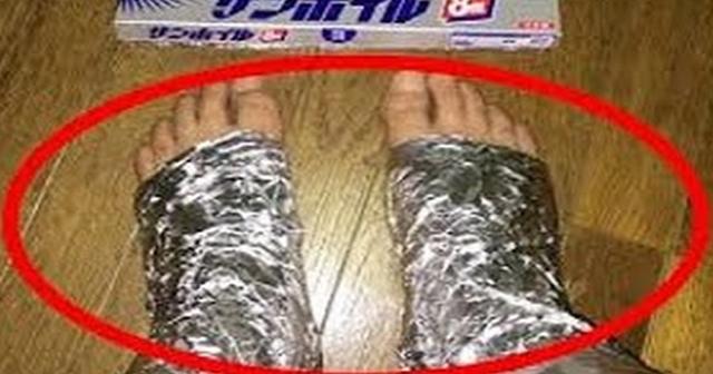 【発見】アルミホイルの意外な活用法。1時間足に巻いてみると驚きの効果が……