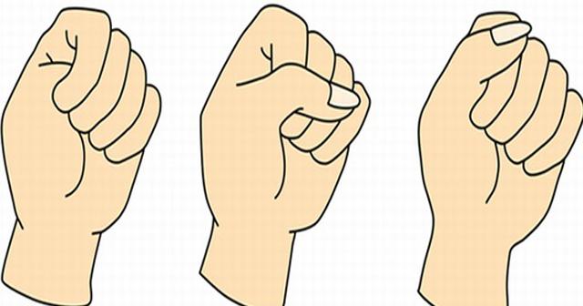 すげぇー【Twitterで話題】握りこぶしの握り方であなたの性格がズバッと当たる!
