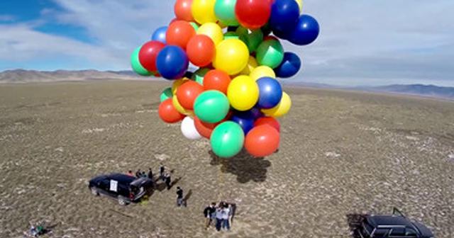 ●●に風船をつけたら浮く?・・そんな素朴な疑問に答えるため実際にやってみたらこうなった!