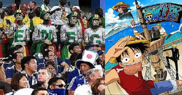 【W杯&ワンピース】日本&セネガルサポーターがW杯試合後、ワンピースの「ウィーアー!」を大合唱。世界中で話題に!!【最強の組み合わせ!】