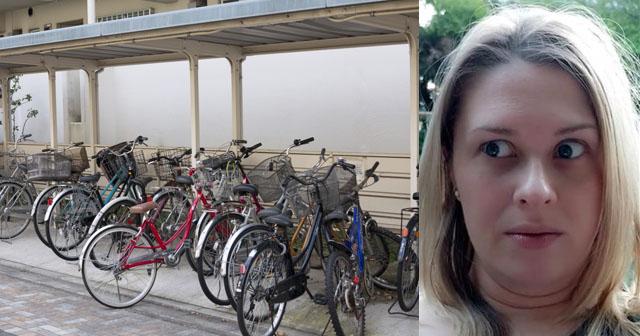 【泥ママ】買って一週間もたたない息子の自転車が玄関先から盗まれた。お巡りさんが現場検証に来たが、それを見た同じマンションに住むママが超キョドリだした!おまえかwww