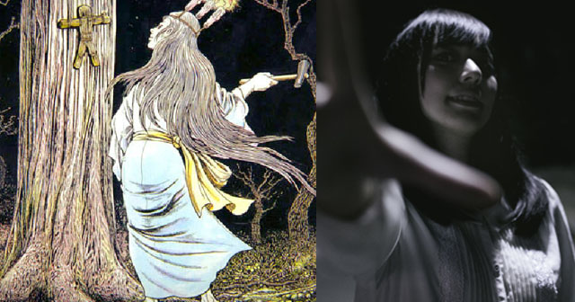 【恐怖体験】近所の神社で白装束の女が、丑の刻参りをしているのを目撃してしまった。女が奇声をあげて追いかけてきたが、何とか逃げ切った…と思ったら…→女「あはは♪あの時の、返しにきたよ!」さらなる恐怖が!!!
