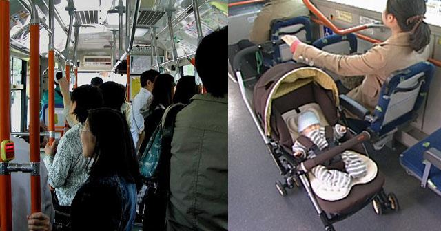 【ホラー?】ラッシュで超満員のバスに、ベビーカーごと乗ろうとしたママ「こっちは赤ちゃん連れなんだから労わるべき、お前らが降りろ!」→でも周囲の話を聞く限り、赤ちゃんは居なかったようで…?