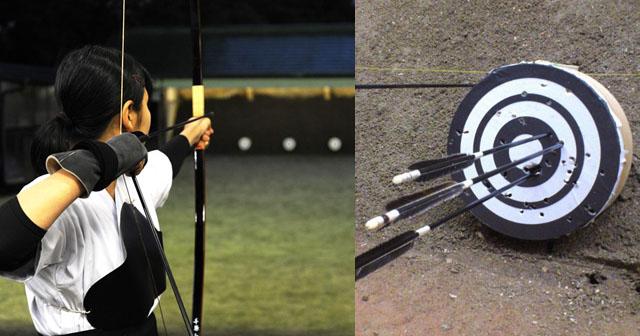【怖すぎる】大学の弓道部で、合図を出して矢を回収していたら、自分が回収中の隣の的に矢がバシッ!っと刺さった。驚いて道場の方を見ると、元彼が取り押さえられ、大騒ぎになっていた。