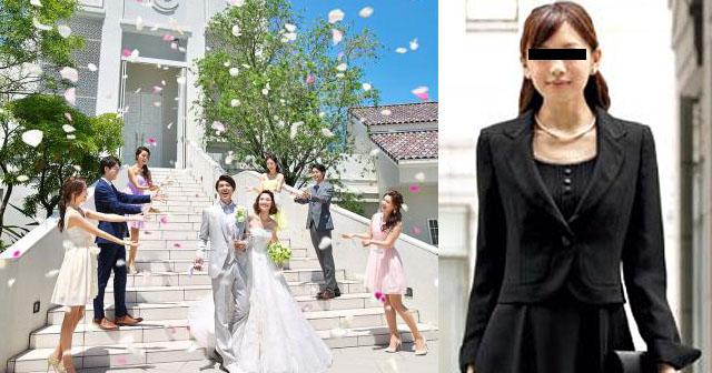 【不幸な結婚式】3年前に別れた新郎の元カノが、結婚式に真っ黒な葬式ルックで現れた。大人しくしていたので無事に終わると思ったら、新婦がチャペルから出て来た瞬間、元カノが何かを投げつけ始めた!