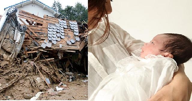 【驚愕!】災害発生で私「産後で走れない。この子を抱いて逃げて!」夫「子供なんかより親が大事!女なんか!」ウトメを車に乗せ、私と娘は置き去り!→その後、家だった場所に戻るとそこには…