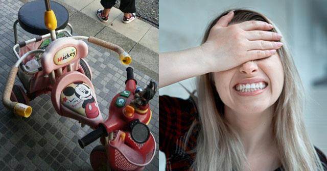【泥ママ】夫姉からボロボロの三輪車を押し付けられ、軒下に放置しておいたら無くなっていた。その後近所のA夫婦が「お宅から貰った三輪車でケガをした!責任取れ!」とやって来た!→私「警察に盗難届出してますよ?」Aママ「…!?」