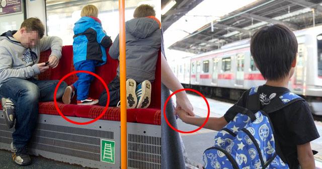 【対照的な親子】混雑した電車内にて。子「ママァ~座りたいよぉ~」母「疲れたね~誰か席代わってくれるでしょ(チラッチラッ)」→見かねたOLさんが「どうぞ」と席を譲ったが「ほ~らねwww」とお礼もなし。そこへ、先程の子よりも年下の子供と父親が乗ってきた。