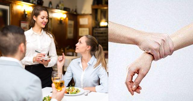【衝撃!】レストランで注文した料理を食べようとしたら、隣のテーブルの見知らぬ女に腕を掴まれ、いきなりビンタされた。